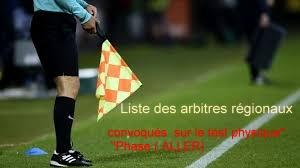 Liste des arbitres régionaux